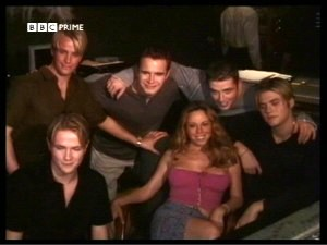 Mariah with Westlife on Capri recording AAO
