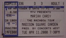 My Ticket - New York - 11.04.2000